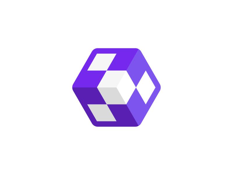 3D Cube Tech Logo Design icon logo designer logo design symbol brand identity branding logotype logo gradients abstract logo dice logo tech logo cube logo