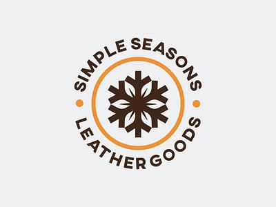 Simple Seasons - Logo Design & Applications visual identity logo designer symbol logo design branding logotype brand identity logo leaf logo snowflake logo leather craft leather work leather logo