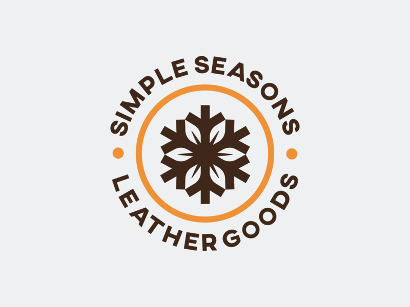 Simple Seasons - Logo Design & Applications visual identity logo designer symbol logo design branding logotype brand identity logo leaf logo snowflake logo leather craft leather work leather logo