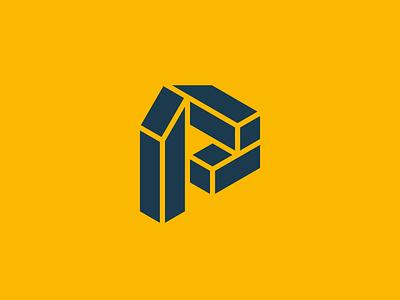Portsmere Construction - New Logo Design letter p logo visual identity identity symbol logo designer logo design logotype brand identity logo construction branding construction logo construction letter logo