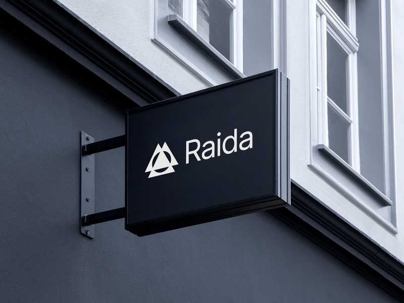 Raida - Architects Office Sign store sign branding logo designer logo design brand identity logo architect brand identity architect branding architecture logo architect logo architecture sign office sign office sign design signage design signage