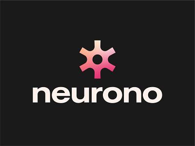 Neurono - Neuron Logo Design 2 logotype visual identity logos logo designer logo design branding brand identity logo tech logo startup logo gradient logo abstract logo neuron logo design