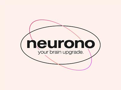 Neurono - Logotype Badge Design abstract logo identity logo designer logo design branding brand identity badge design typogaphy tech logo wordmark neurono text logo logotype startup logo neuron logo