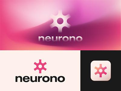Neurono - Logo and App Icon Design app logo app icon tech logo startup logo abstract logo design neuron logo design