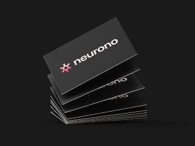 Neurono - Business Card Design abstract logo symbol logo designer logo design branding brand identity logo app logo tech brand tech logo startup brand startup logo business card business card design