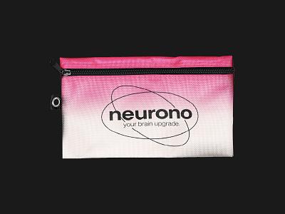 Neurono - Merchandise Pencil Case Design visual identity collateral design logo designer branding brand identity tech logo tech brand startup brand startup logo neuron logo merchandise merch merchandise design pencil case