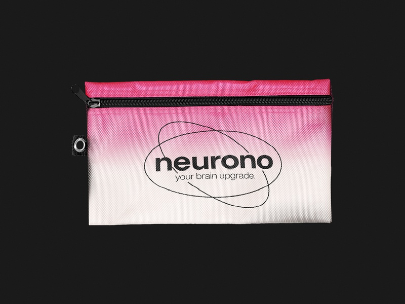 Neurono - Merchandise Pencil Case Design visual identity collateral design logo designer branding brand identity tech logo tech brand startup brand startup logo neuron logo merchandise merch merchandise design pencil case