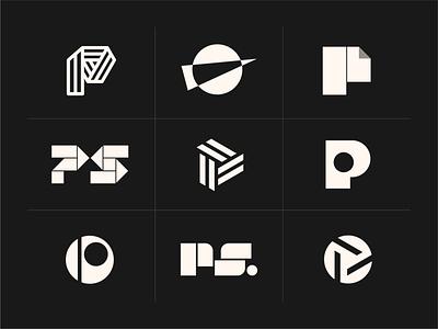 Paperwork Studios Logo Concepts - Letter P and Abstract icon brand design logo designer logo design logotype branding brand identity abstract logo saas logo tech logo startup logo letter logo letter p letter p logo