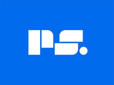 PS Block Letter Logo Design logotype logo designer logo design branding logo brand identity startup logo tech logo minimal logo typography ps letter logo ps letter logo ps letter logo design
