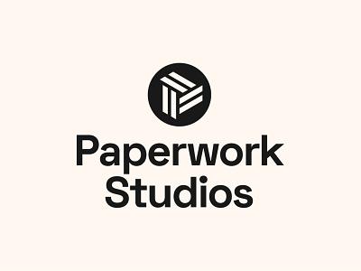 Paperwork Studios - Badge Logo Design tech logo startup logo logo designer logo design branding logo brand identity logo lockup badge logo badge design letter logo letter p letter p logo abstract logo