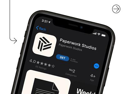Paperwork Studios - Logo App Icon logo designer logo design branding logo brand identity abstract logo p logo letter logo tech logo app startup logo app logo app icon letter p letter p logo