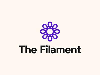 The Filament - Logo Design logotype filament startup branding logo designer logo design branding logo brand identity startup logo design abstract logo bulb logo startup logo tech logo flower logo filament logo