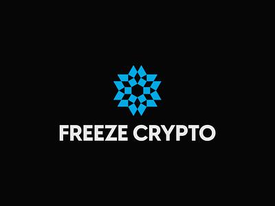 Freeze Crypto - Snowflake Logo snowflake decentralized cryptocurrency web3 branding logotype brand identity logo design logo designer logo abstract logo minimal logo startup logo tech logo crypto logo snowflake logo crypto snowflake logo