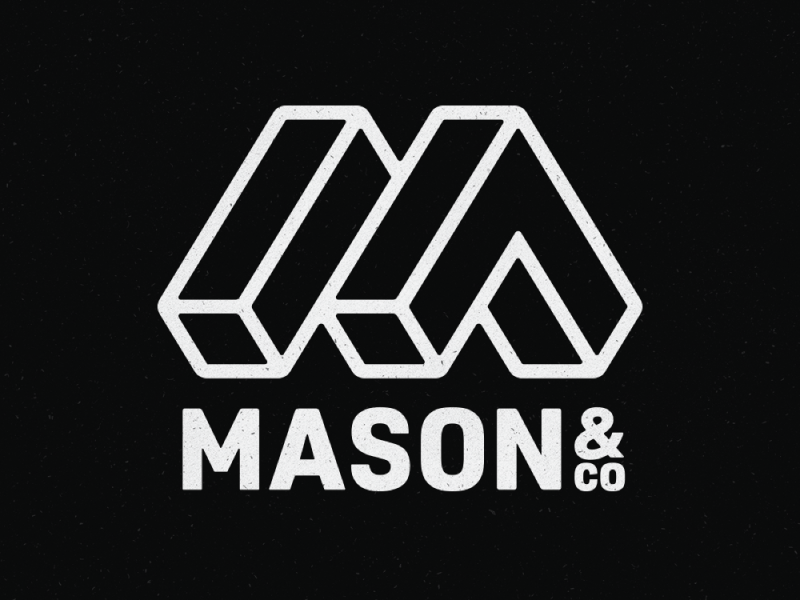 Logo - Mason & Co. industrial building construction typography symbol mark identity brand identity logotype logos logo branding