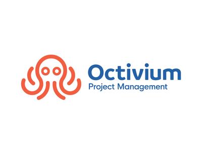 Octopus Logo octopus octopus logo animal logo typography symbol mark identity brand identity logotype logos logo branding