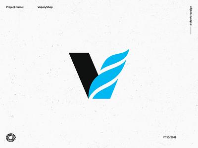 VaporyShop 1 logo designer fire logo vape store vaping electric logo lettering letter v v logo logotype logo design vape logo