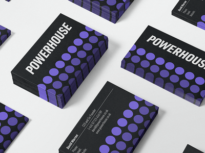 Powerhouse - Business Card Design cbd logo cbdoil cannabis packaging cannabis branding cannabis design cannabis logo cbd hemp cannabis business card logo design logos brand identity icon symbol logotype branding logo