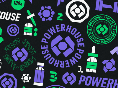 Powerhouse - Logo, Badges & Icons cannabis branding cannabis design cannabis logo hemp cbdoil cbd cannabis sports logo logos design brand identity icon symbol logotype branding logo