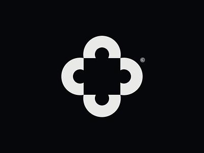 WW033 - Square Logo 2 lettering logo design symbol brand identity branding logotype logo startup logo tech logo puzzle puzzle logo abstract logo square square logo