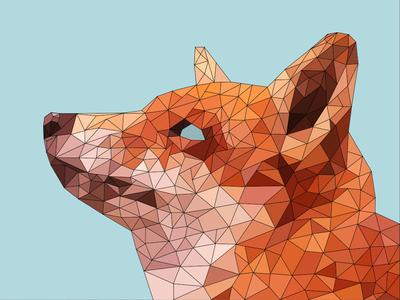 Poly Fox geomatry fox poly