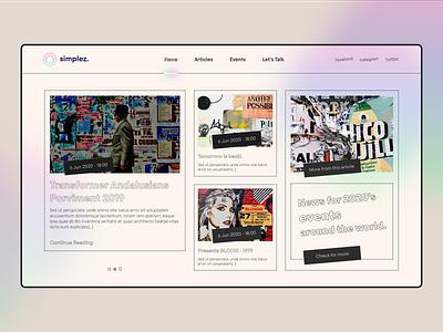 Minimal UI - News Main Screen simple news userexperience userinterface website web agency minimal creative web design ux ui design