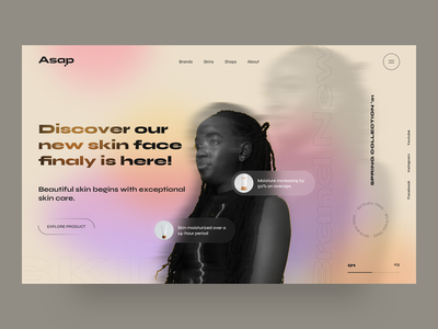 asap - UI Design Concept gradient clean slimple portfolio shopping shop agency ux minimal design creative web design ui