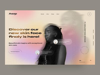 asap - UI Design Concept gradient clean slimple portfolio shopping shop agency ux minimal design creative web design ui