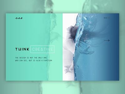 Oak - Creative Home Page minimal creative web ux ui design web design