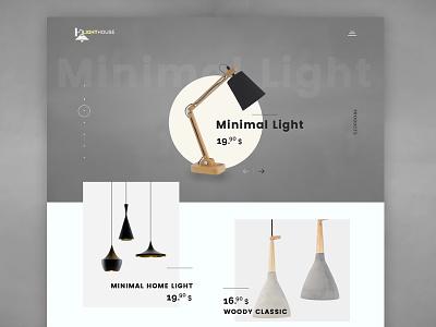 LightHouse - Minimal Design light products design web design ui ux minimal creative agency digital denis elitefingers