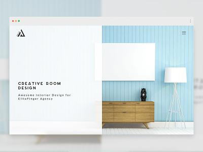 Interior Design agency architecture website theme worpress web design design minimal oak elitefingers creative ui