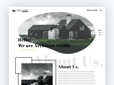 Architecture Agency architecture minimal web design ui ux creative portfolio design