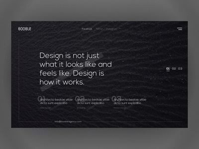 Minimal Concept design portfolio creative ux ui web design minimal agency