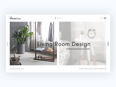 Interior Design Concept interior agency minimal web design ui ux creative portfolio design