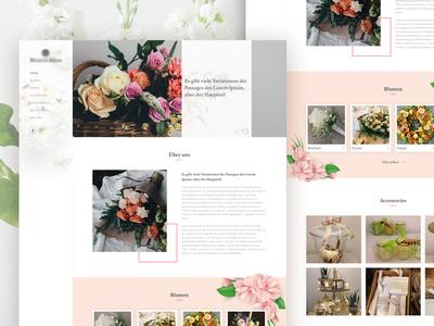 Flowers - Web Design creative design ui ux minimal web design denisbujupaj portfolio flowers
