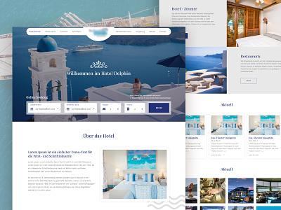 Hotel - Home Page restaurants hotel portfolio denisbujupaj web design minimal ux ui design creative