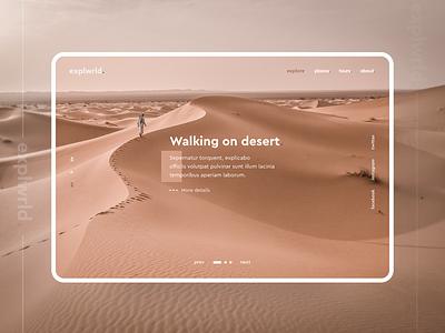 explwrld. - Main screen denisbujupaj business explore web agency web design minimal creative ux ui design