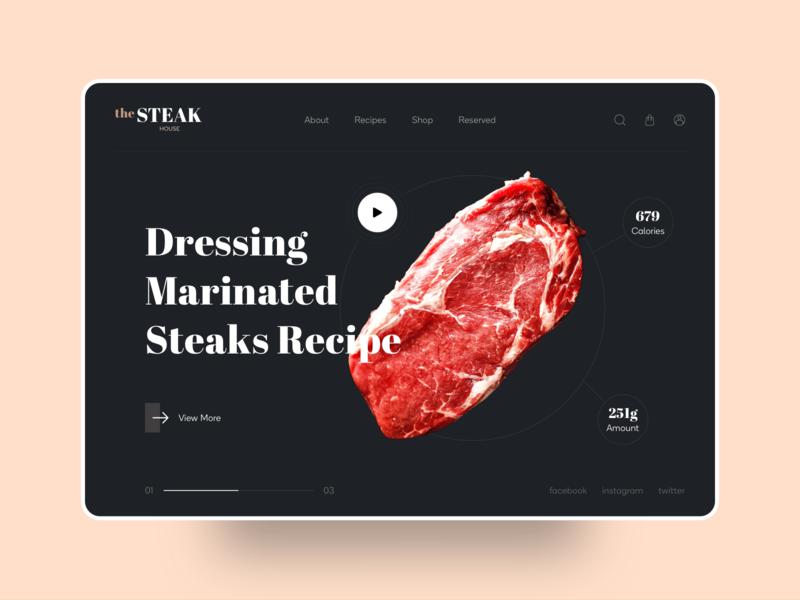 UI- Home Screen graphic web ui denisbujupaj ux minimal agency web design creative design