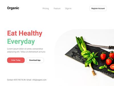 Organic Food AB scandinavian design nordic stockholmux ux ui web design design header exploration uxdesign organic