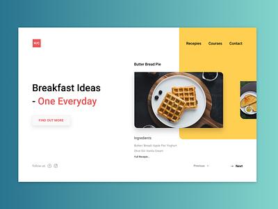 Recepie House Website Homepage Design food website breakfast branding stockholm uxdesign web design uxdesign ux