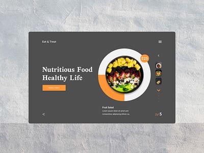 Eat & Treat Restaurant Website Design Version-2 behance dribbblers userexperience wahidsadiq restaurant website stockholm uxdesign uxdesign ui web design ux