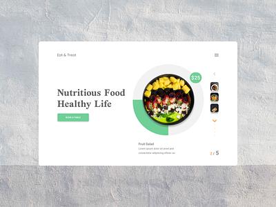 Eat & Treat Restaurant Website Design Version - 1 dribbler nordic design wahidsadiq ui behance design stockholm uxdesign uxdesign web design ux