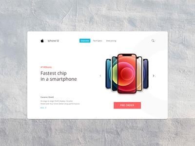 Iphone 12 webpage design wahidsadiq behance design stockholm uxdesign uxdesign ui web design ux