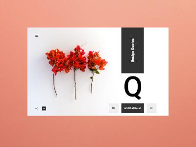Design Quotations - Experimental UX Design branding dribbblers wahidsadiq behance web design stockholm uxdesign ui uxdesign ux