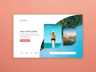 Travel Mate - Tour Operator Website Design Experiment design behance ui stockholm uxdesign uxdesign web design ux