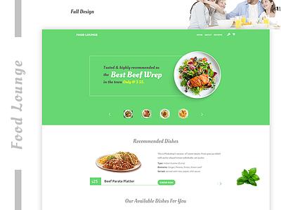 Restaurant Landing Page Design web design ux ui minimal food lover food lounge restaurant landing page