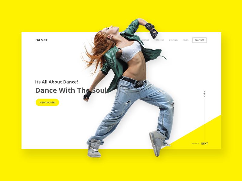 Dance Institute Landing Page web design ux ui landing page dance institution webdesign