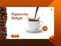 Café Solo - Cafetaria web Design Concept WIP