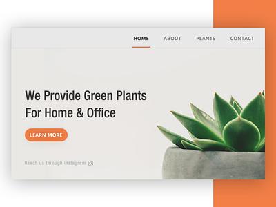 Plants ux design concept. webdesignconcept plantsuxdesign uxdesign ux