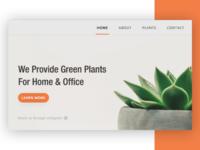 Plants ux design concept.