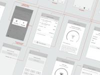 Runder app wireframes